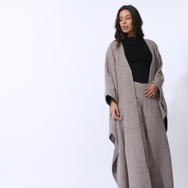 Cashmere Wool Sahara Batwing Abaya by Zalinah White on OOSTOR.com