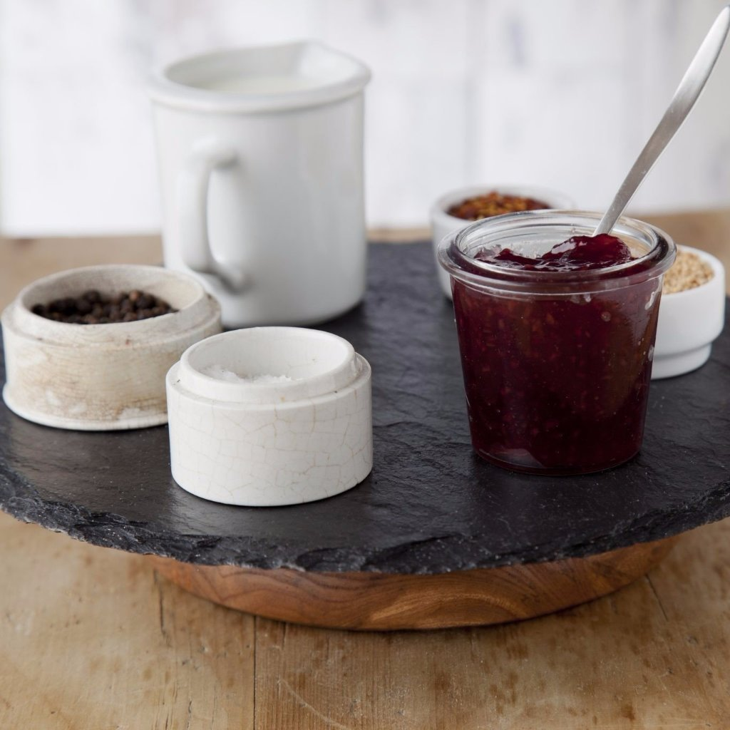 Slate & Wood Lazy Susan