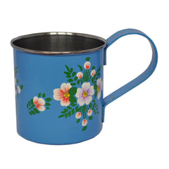 Azure Blue & White Posy Enamelware Mug by Jasmine White on OOSTOR.com