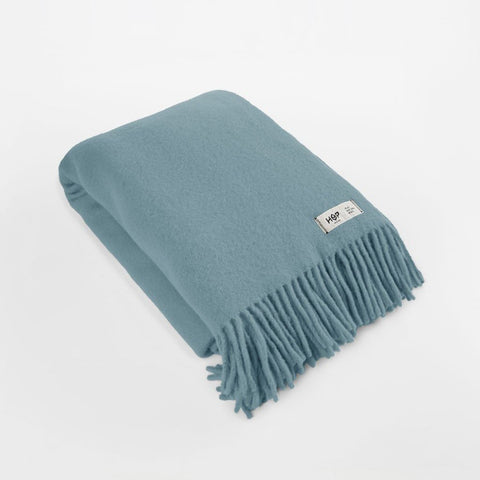 Pastel Blue YETI - Pure Wool Blanket by HOP Design on OOSTOR.com