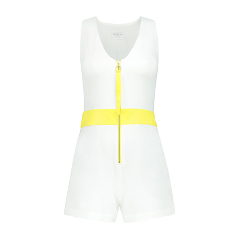 Run Away With Me Playsuit In White by Blonde Gone Rogue on OOSTOR.com