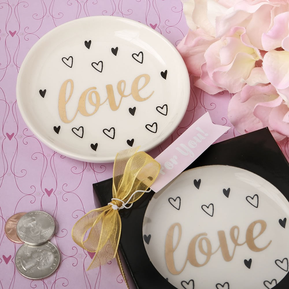 Love Ceramic Jewellery/Change Dish by Sole Favors on OOSTOR.com