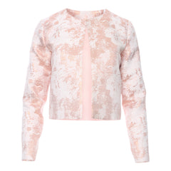 Nour Classic Cropped Blazer - Rose Gold Brocade by Zalinah White on OOSTOR.com