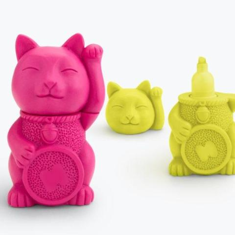 Lucky Cat Highlighter by Mustard Gifts on OOSTOR.com