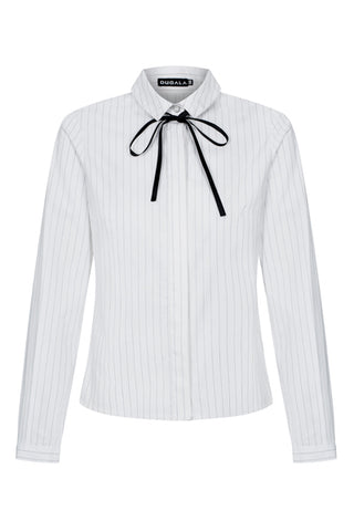 White Pinstriped Shirt by Bubala