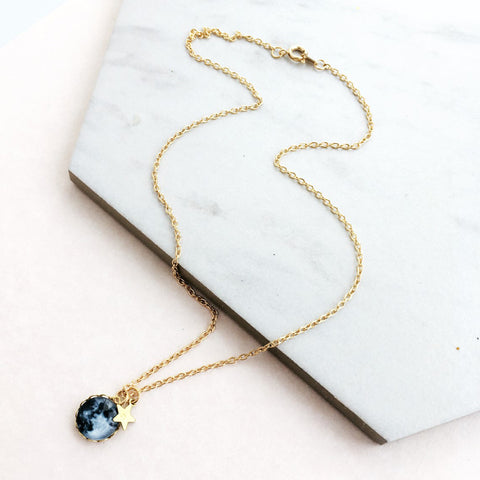 La Lune Personalised Moon Pendant by Eclectic Eccentricity on OOSTOR.com