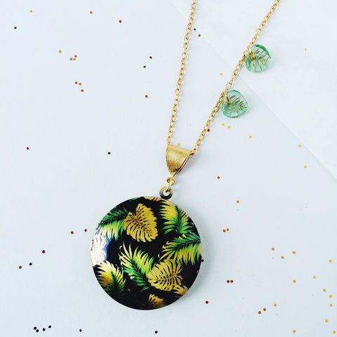 Leaf It Out - Monstera Leaf Locket by Eclectic Eccentricity on OOSTOR.com