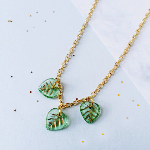 Leaf It To Me - Vintage Leaves Necklace by Eclectic Eccentricity on OOSTOR.com