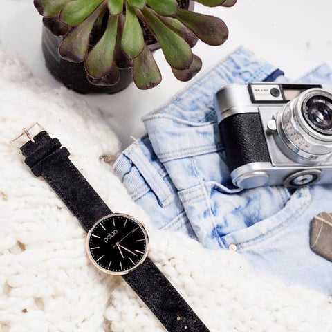 Graphite Velvet Watch by Patoo Watches on OOSTOR.com