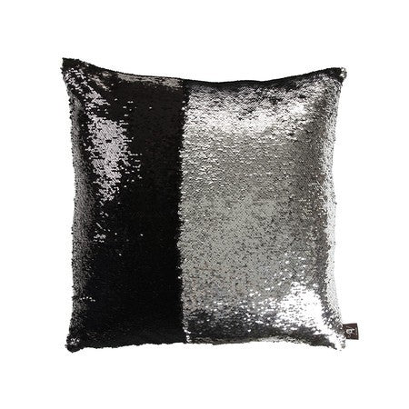 Black & Silver Mermaid Cushion by Mermaid Pillow Shop on OOSTOR.com