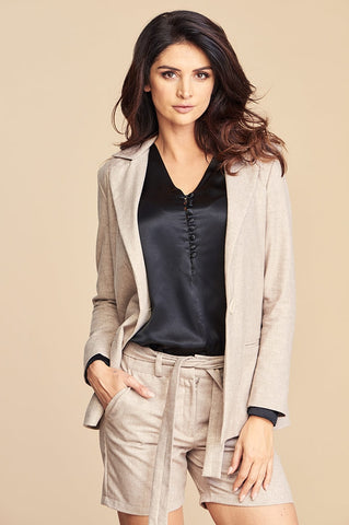 Tailored Lima Jacket in Beige