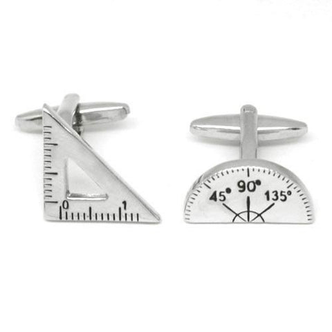 Maths - Protractor and Set Square - Cufflinks by SOLO on OOSTOR.com