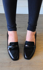 Dave Genuine Horse Leather Black Loafers by SEIRA ELVES on OOSTOR.com