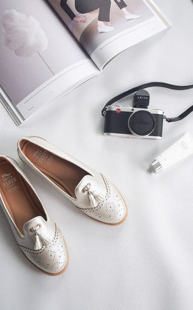 Dorothy Silver Metallic Loafers by SEIRA ELVES on OOSTOR.com