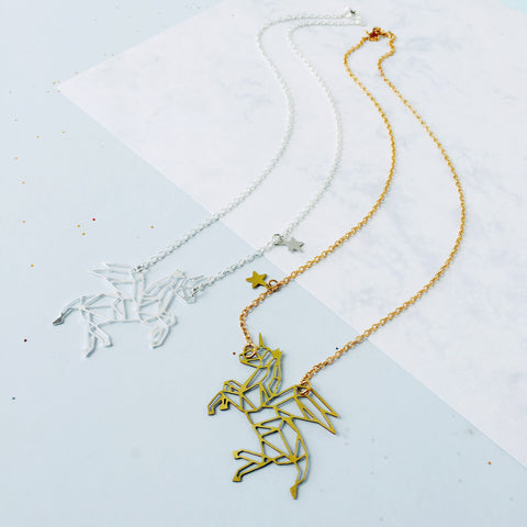 Monoceros Winged Unicorn Constellation Necklace by Eclectic Eccentricity on OOSTOR.com