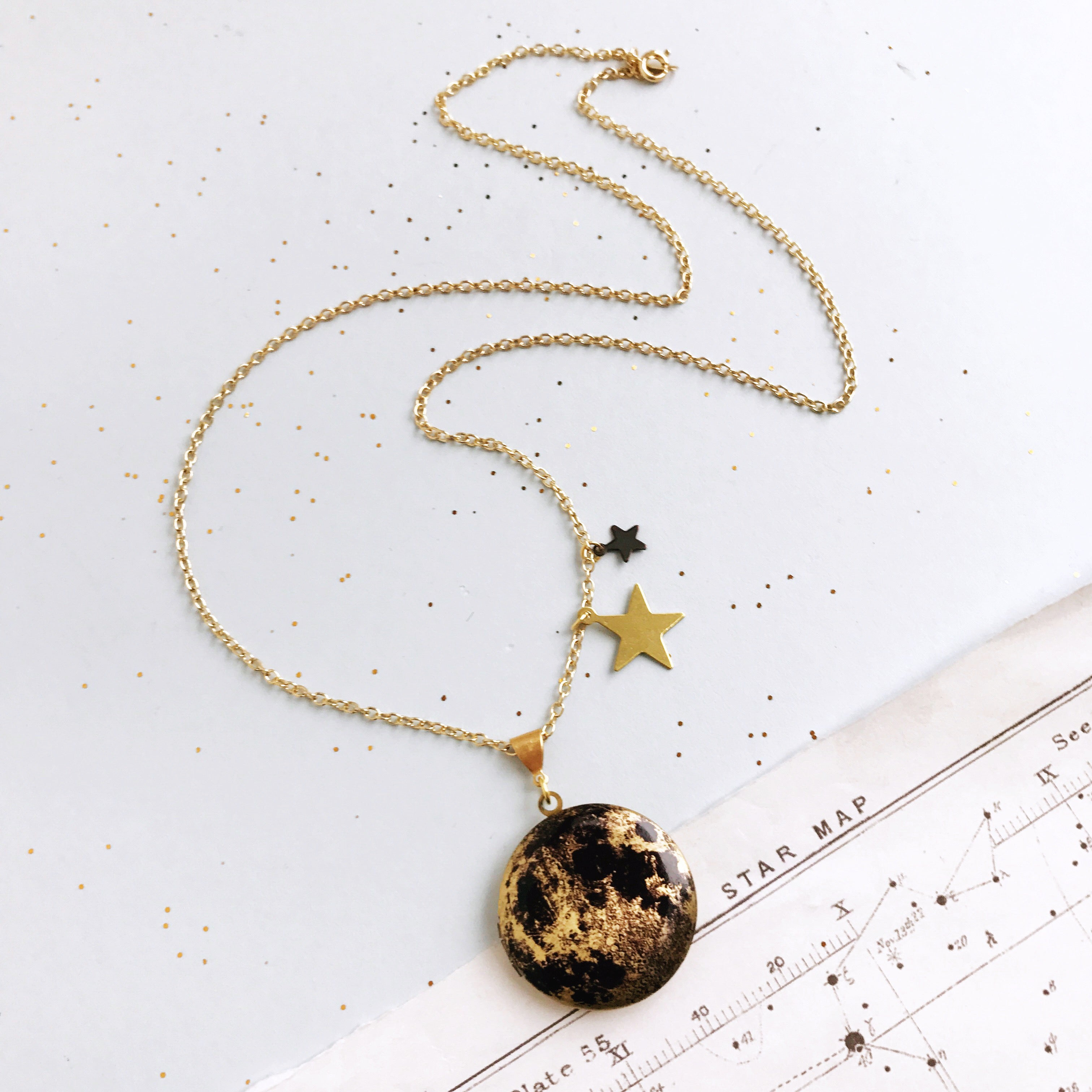 Over The Moon Personalised Locket by Eclectic Eccentricity on OOSTOR.com