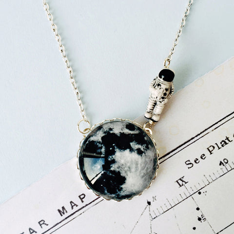 Moonwalk Outta Here - Moon Necklace by Eclectic Eccentricity on OOSTOR.com