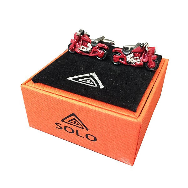 Motorbike Red Cufflinks by SOLO on OOSTOR.com