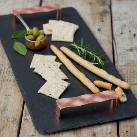 Copper & Slate Tray by Slated on OOSTOR.com