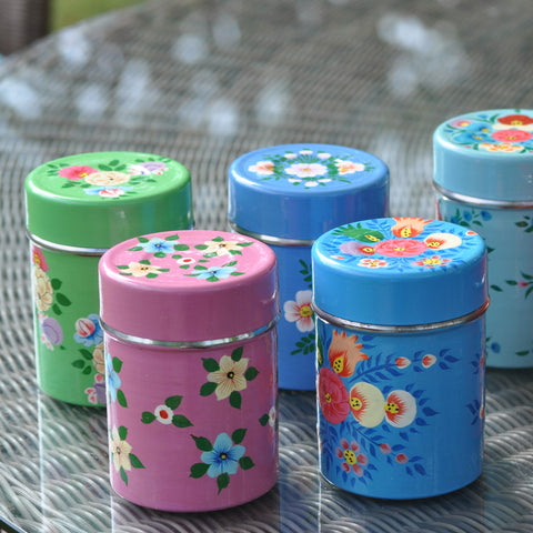 Set of Four Tea Caddies by Jasmine White on OOSTOR.com