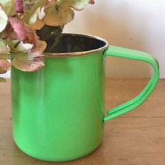 Bright Green Enamelware Mug by Jasmine White on OOSTOR.com