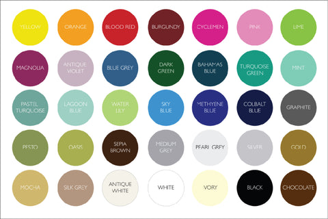 Cities' Personalised Wall Sticker' Colour Pallete_Leonora_Hammond_OOSTOR.com