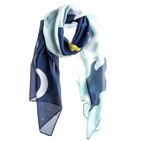 The World Green Silk Scarf by Baba Yaga on OOSTOR.com
