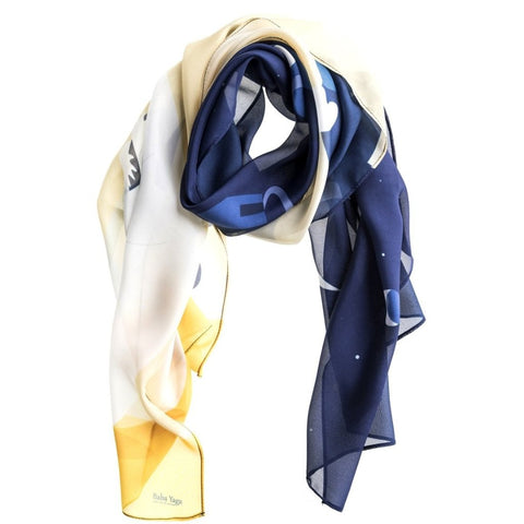 The World Yellow Silk Scarf by Baba Yaga on OOSTOR.com