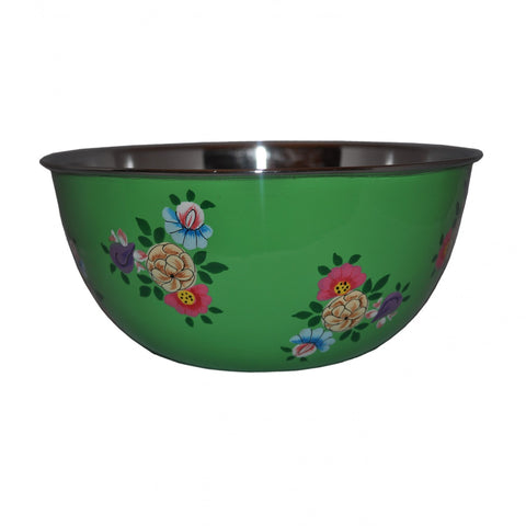 Bright Green Enamelware Bowl by Jasmine White on OOSTOR.com