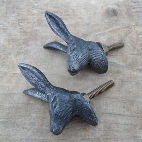 Set of 2 Hare Cupboard Knobs
