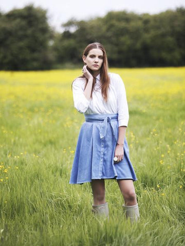 Outsider dip dye shirt dress with obi belt by Outsider Fashion on OOSTOR.com