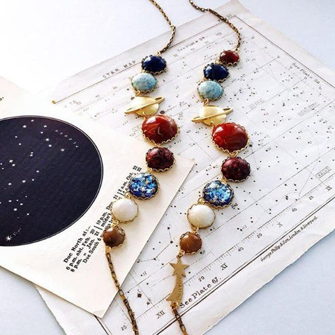 Perfect Alignment Solar System Necklace by Eclectic Eccentricity on OOSTOR.com