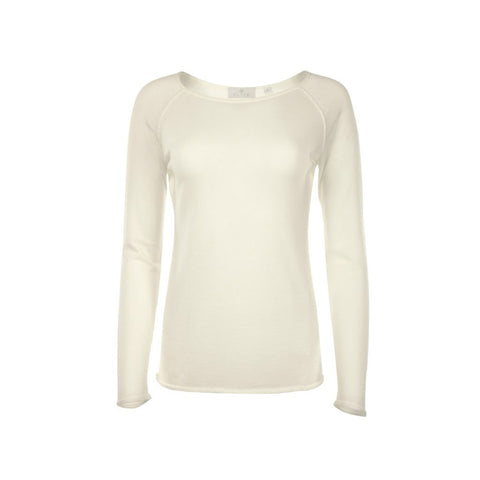 Ivory Phoebe Merino Raglan Top by Flock By Nature on OOSTOR.com