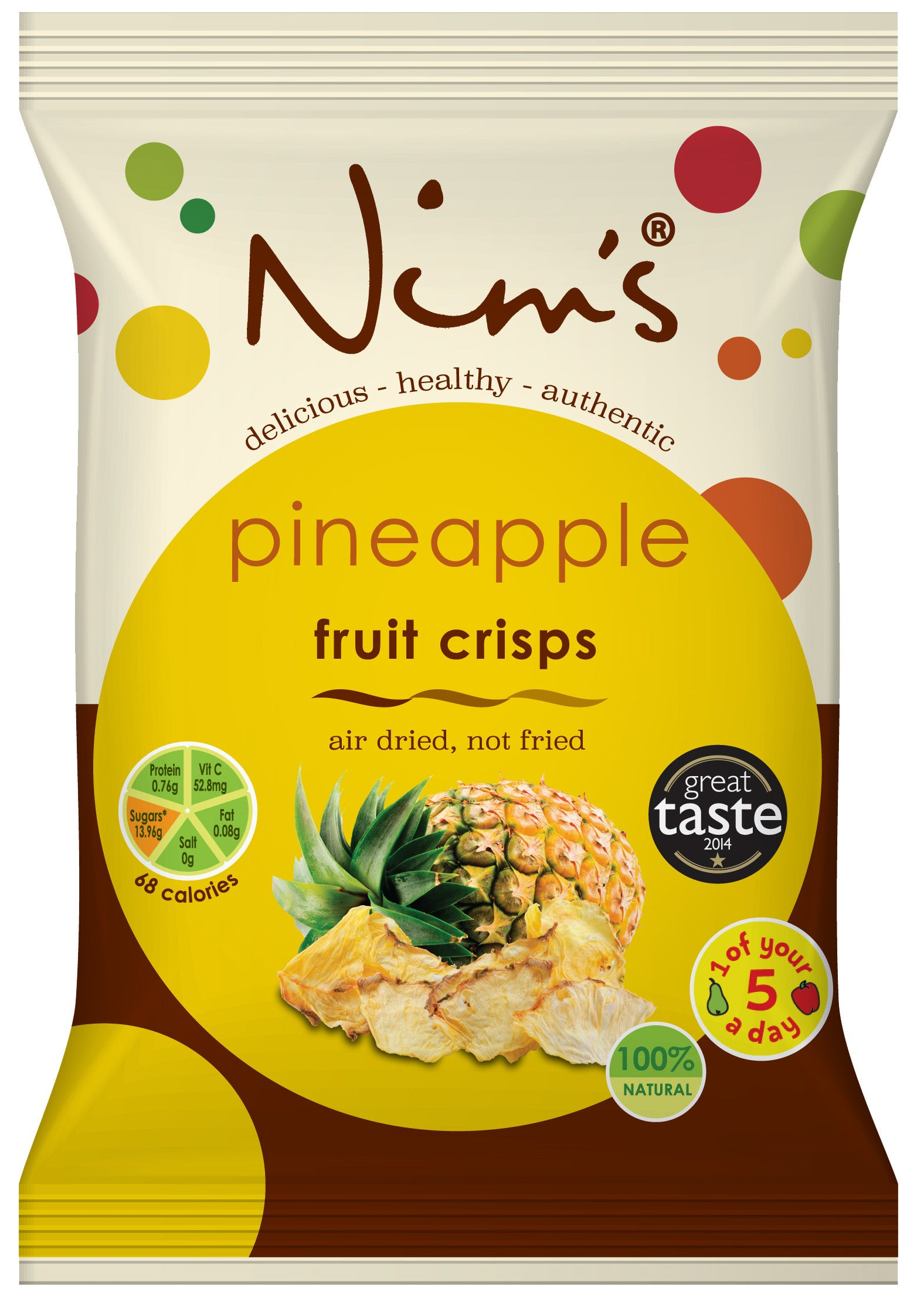 Air Dried Pineapple Crisps