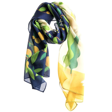 The Flower Silk Scarf by Baba Yaga on OOSTOR.com
