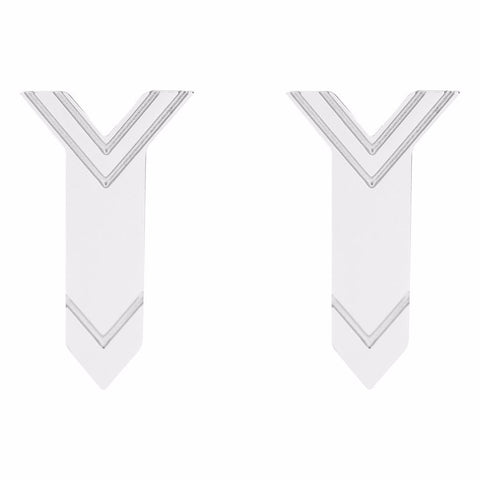 Chevron Arrow Stud Earrings by ESA EVANS on OOSTOR.com