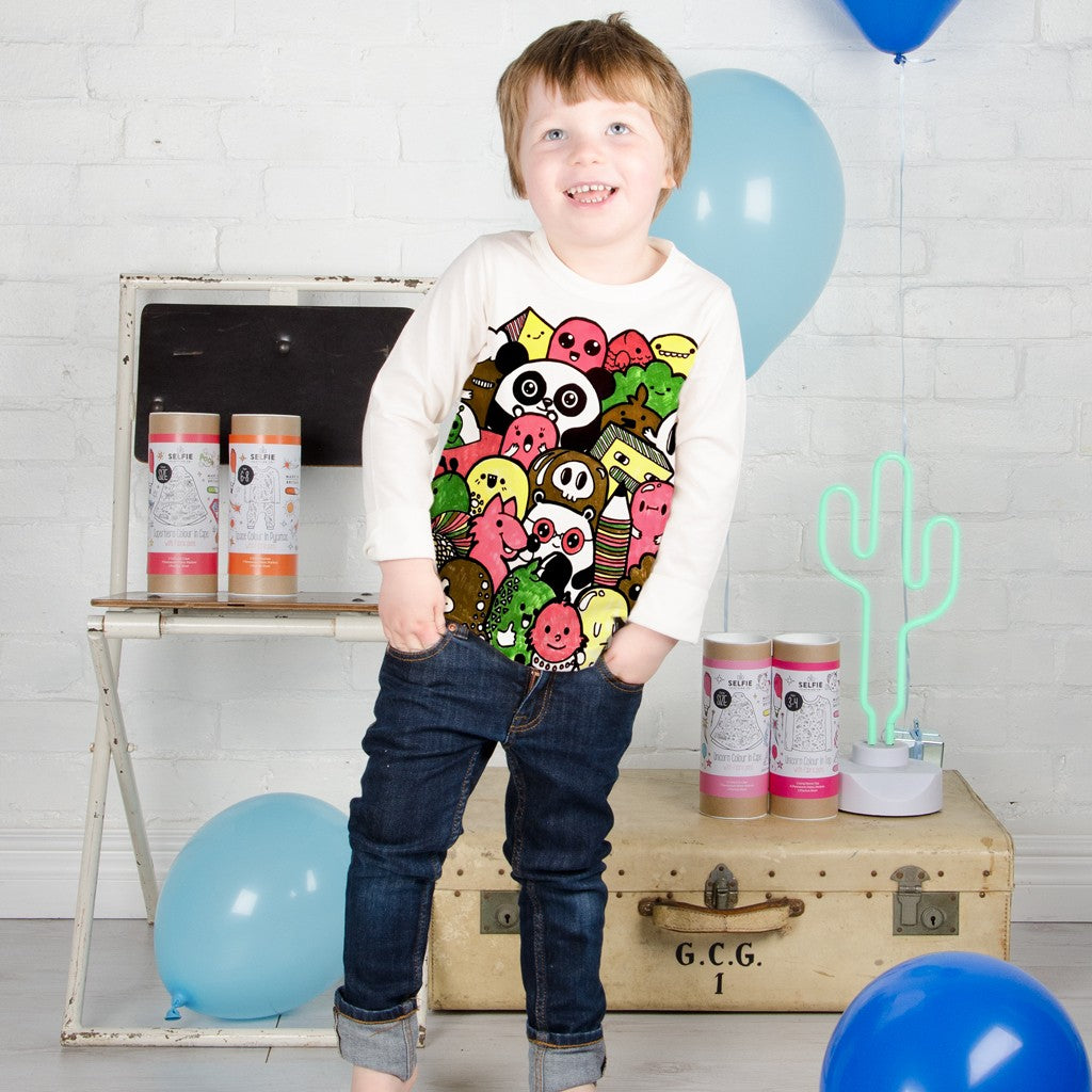 Doodle Design Colour in Top by Selfie Clothing Co on OOSTOR.com