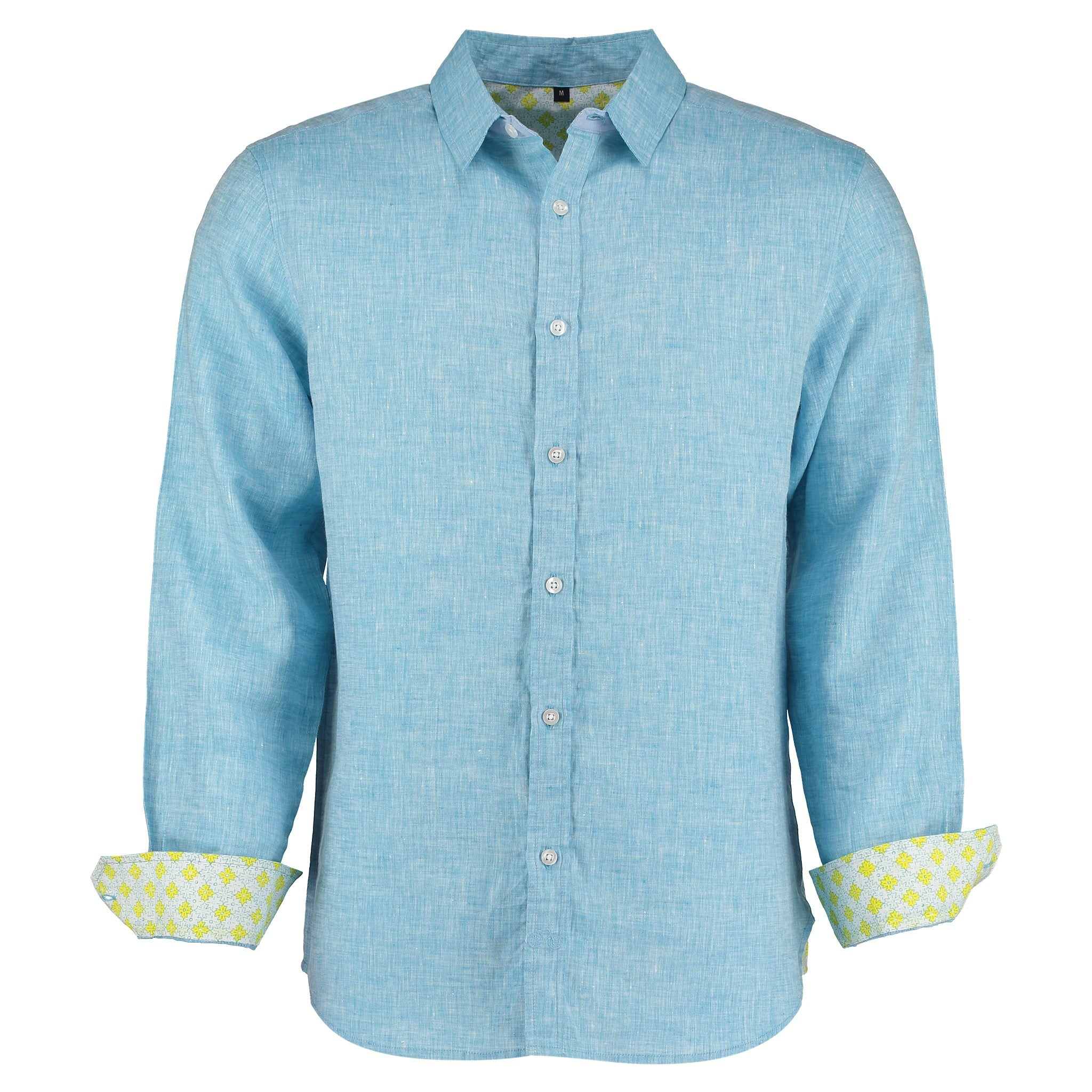 Karnataka Light Blue Linen Shirt by Tobias Clothing on OOSTOR.com