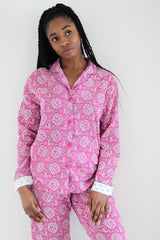 Raspberry Pink Cotton Pyjamas