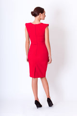 Azaria dress in red