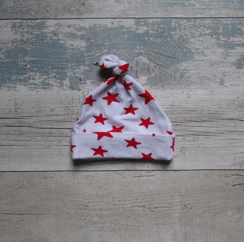 Baby red star hat