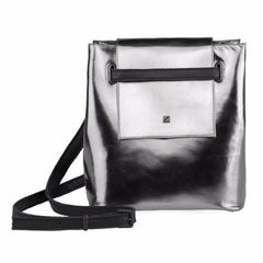 Silver Mini Bucket Bag by Maria Maleta on OOSTOR.com