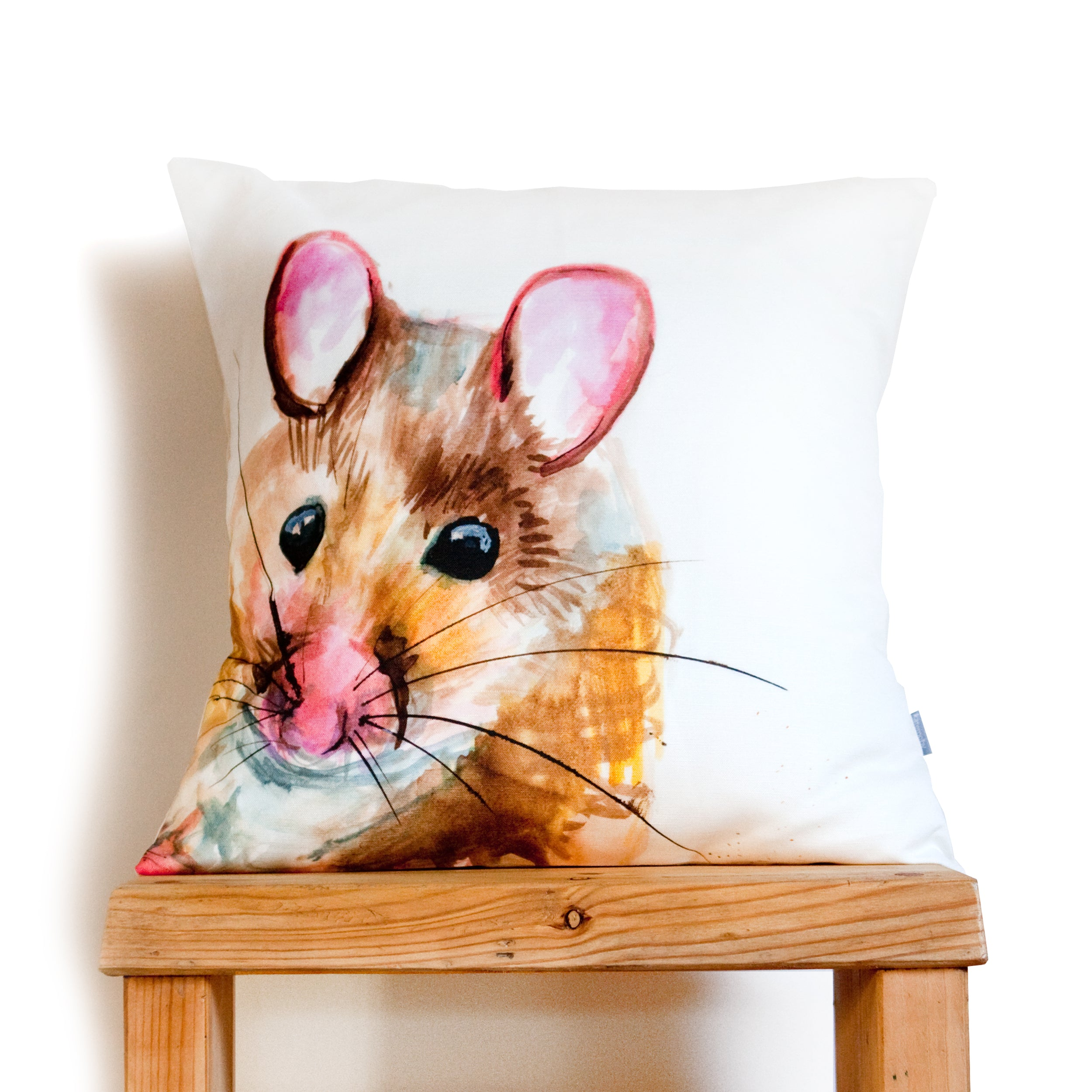 Inky Mouse Cushion by Kate Moby on OOSTOR.com