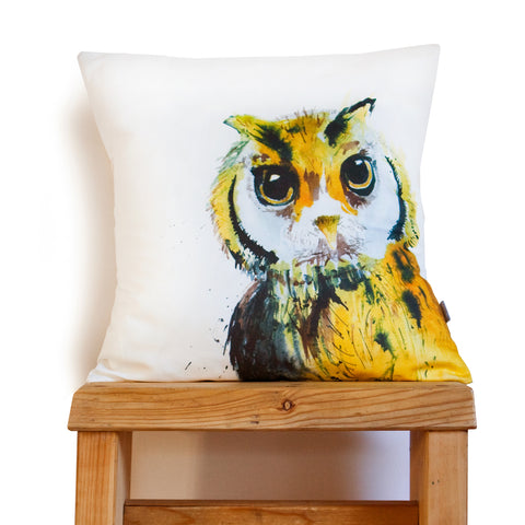 Inky Owl Cushion by Kate Moby on OOSTOR.com