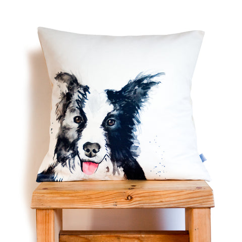 Inky Dog Cushion by Kate Moby on OOSTOR.com