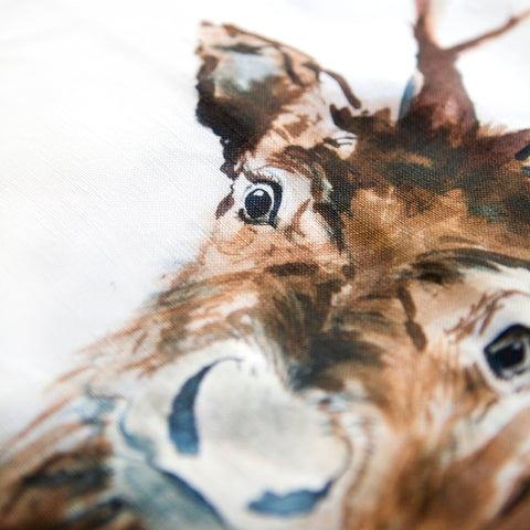 Inky Reindeer Cushion by Kate Moby on OOSTOR.com
