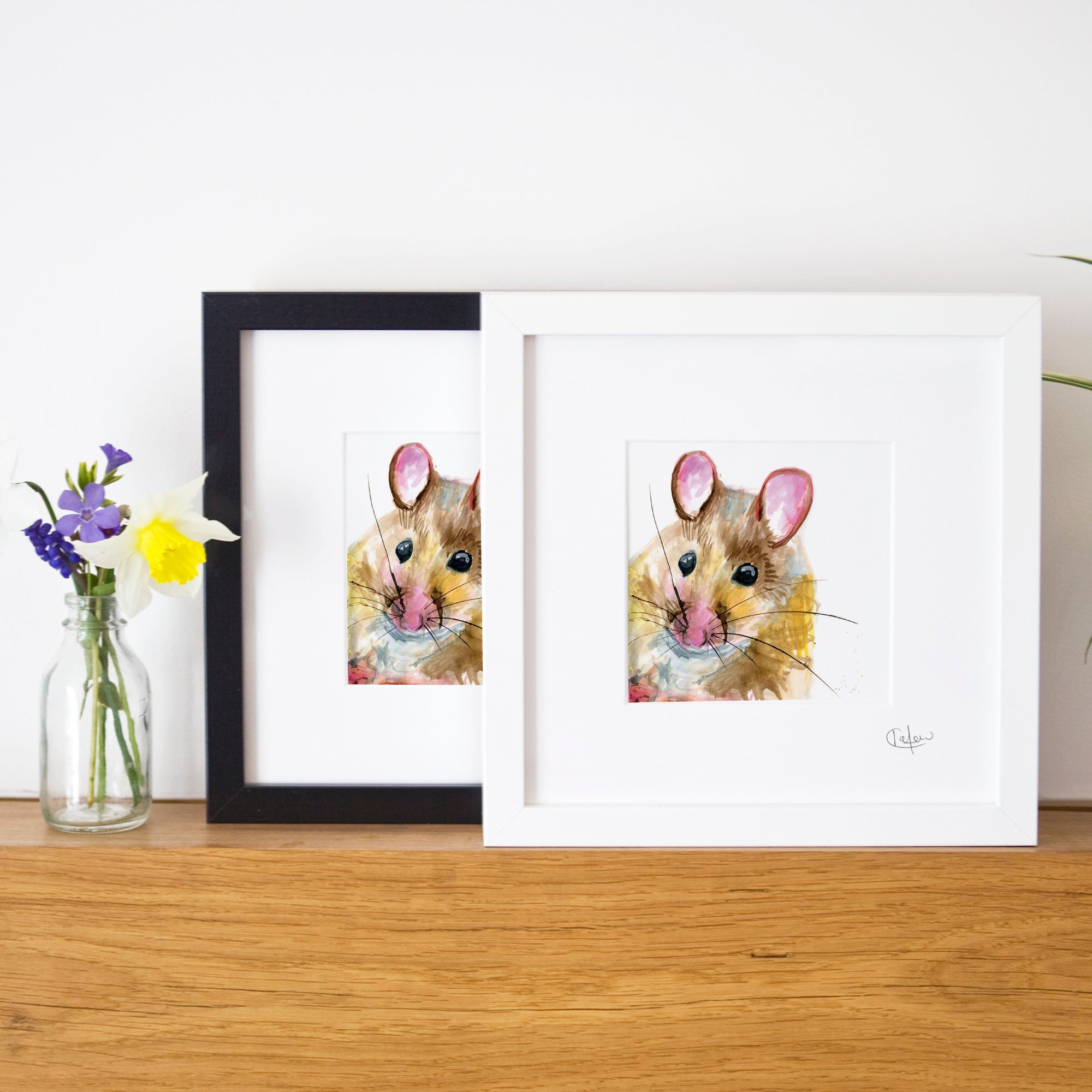 Inky Mouse Illustration Print by Kate Moby on OOSTOR.com