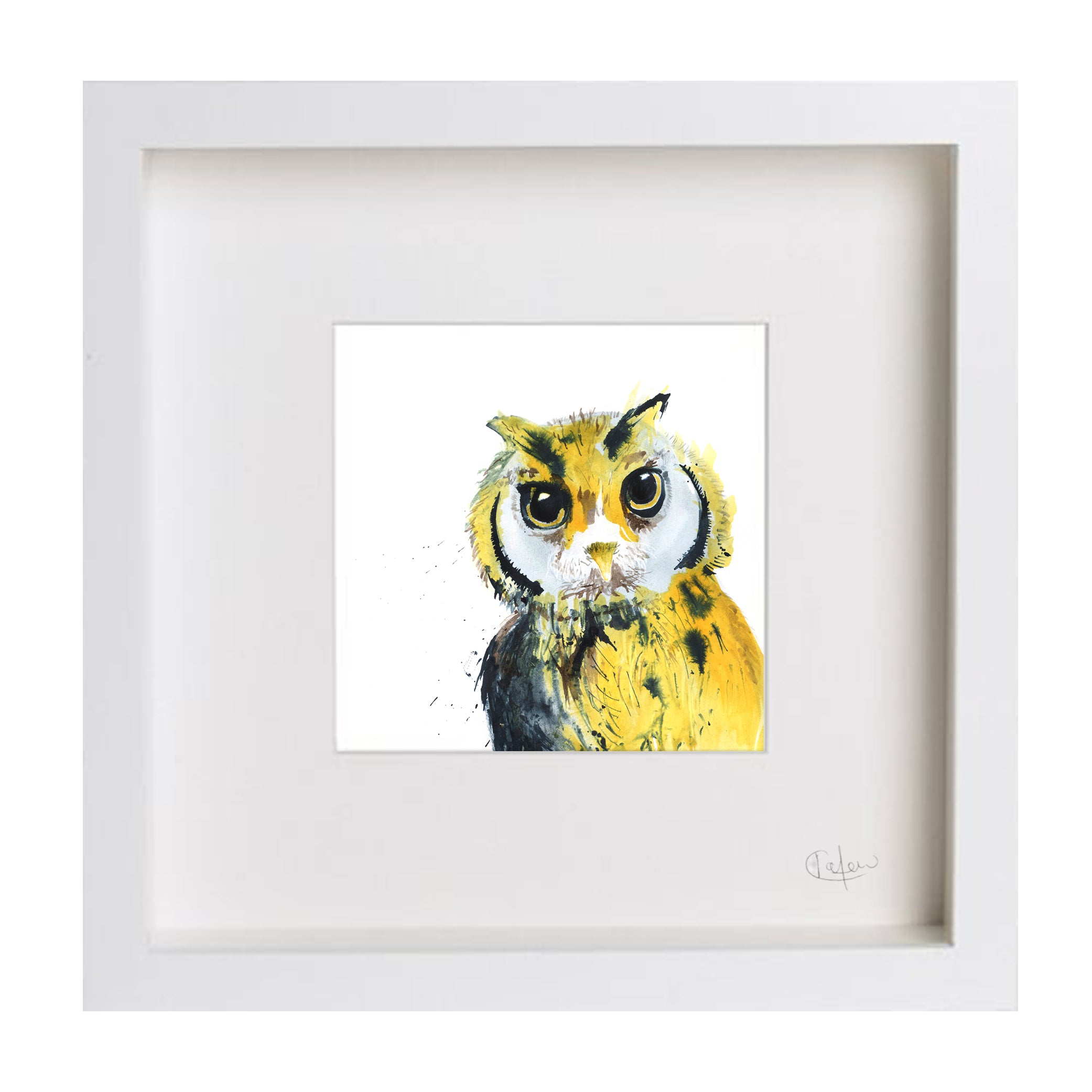 Inky Owl Illustration Print by Kate Moby on OOSTOR.com