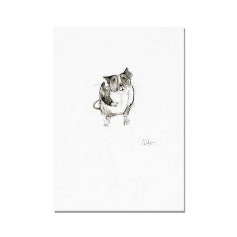 Monochrome Mouse Illustration Print by Kate Moby on OOSTOR.com