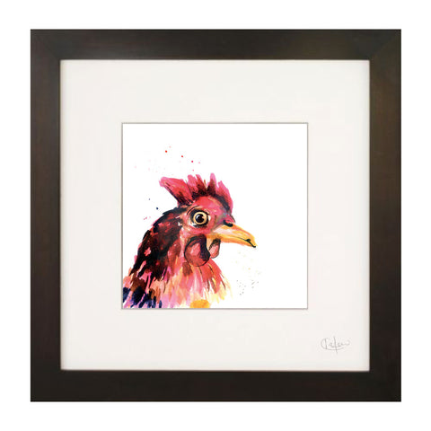 Inky Chicken Illustration Print by Kate Moby on OOSTOR.com